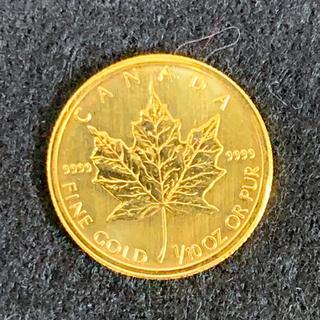 メイプルリーフ金貨 1/10oz 3.1g 9999 純金 コイン 本物保証(その他)