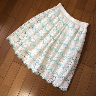ジーユー(GU)の未使用 レーススカート(ひざ丈スカート)