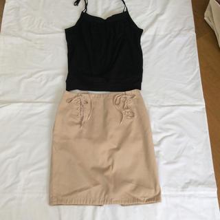 マークバイマークジェイコブス(MARC BY MARC JACOBS)のMARK JACOBS スカート サイズ4 キャミソールおまけ付き(ひざ丈スカート)