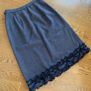 レリアン(leilian)のレリアン   裾フリルスカート(ひざ丈スカート)
