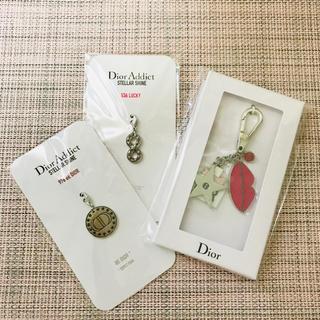 ディオール(Dior)の【新品】Dior バースデー キーホルダー& チャーム 2点 セット ノベルティ(キーホルダー)