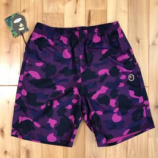 アベイシングエイプ(A BATHING APE)のBAPE パープルカモ ハーフパンツ 水着 ショーツ purple BAPE(ショートパンツ)
