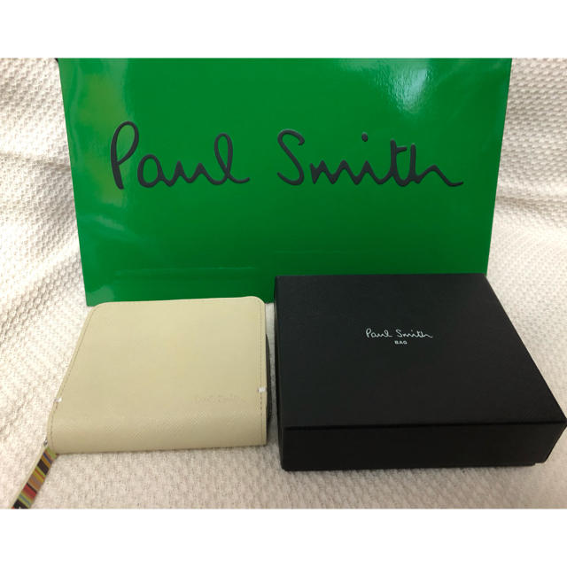 Paul Smith - 新品☆ポールスミス  二つ折り財布 アイボリー メンズ プレゼント 財布 の通販 by SY's shop|ポールスミスならラクマ