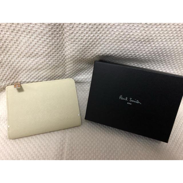 Paul Smith - 新品☆ポールスミス  二つ折り財布 L字ジップ アイボリー プレゼント 財布の通販 by SY's shop|ポールスミスならラクマ