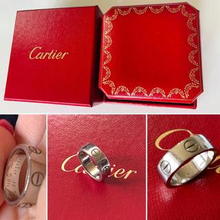 カルティエ(Cartier)のカルティエ リング ホワイトゴールド 指輪 ラブリング size48(リング(指輪))