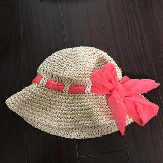 アカチャンホンポ(アカチャンホンポ)の値下げ!ベビー用 麦わら帽子43㎝(帽子)