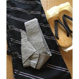 浴衣セット  男性  浴衣、帯、草履、3点セット  サイズ訂正あり(浴衣帯)