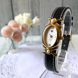 ミキモト(MIKIMOTO)の【電池交換済み】MIKIMOTO ミキモト 腕時計 2連パール ゴールド シェル(腕時計)