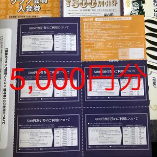 ラウンドワン  株主優待券 2019年12月15日  クーポン 5,000円分(ボウリング場)