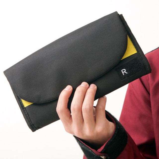 RURSUSバイカラーお財布ポーチ 2WAY ブラック/イエローの通販 by FINE's shop|ラクマ