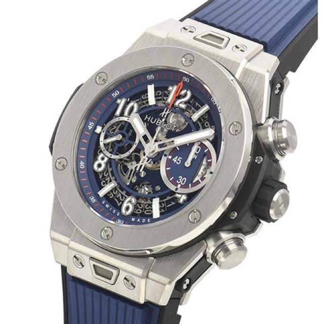HUBLOT(ウブロ)のビッグ・バン ウニコ チタニウム ブルー 411.NX.5179.RX メンズの時計(腕時計(アナログ))の商品写真