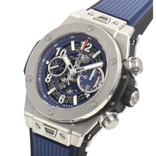 ウブロ(HUBLOT)のビッグ・バン ウニコ チタニウム ブルー 411.NX.5179.RX(腕時計(アナログ))