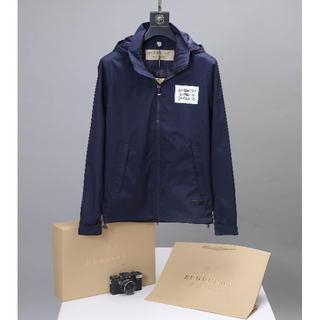 BURBERRY - BURBERRYいジャケット薄ダークブルーメンズXLサイズ