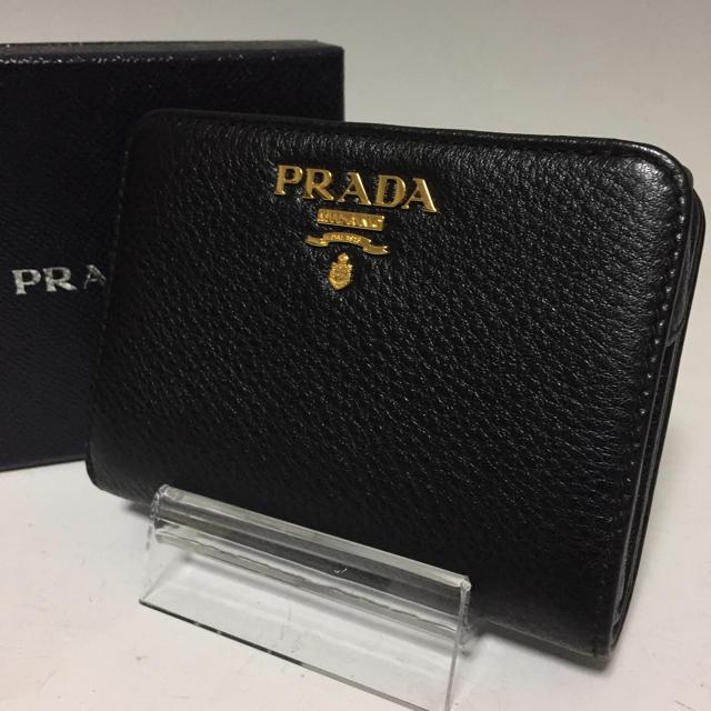 PRADA - PRADA  未使用 黒 二つ折り財布 レザー L字ファスナー プラダの通販 by プロフ必読お願いします。|プラダならラクマ