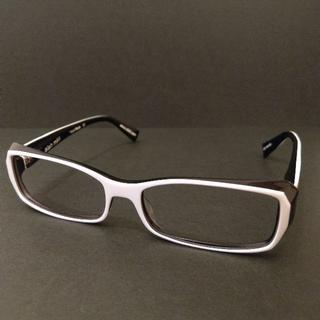 アランミクリ(alanmikli)の■レア■alain mikli アランミクリ 白黒 フランス製 眼鏡 メガネ(サングラス/メガネ)
