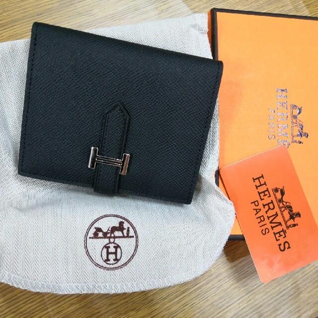 二つたたみ エルメス 折り ブラック 財布 男女兼用 良品良質 の通販 by SENZC8's shop|ラクマ
