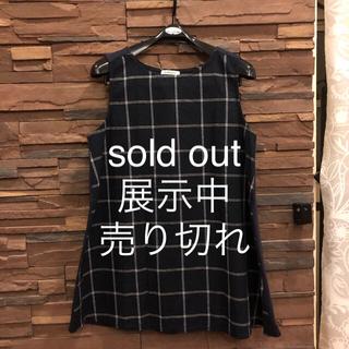 ノースリーブAラインチュニック 。 sold out(カットソー(半袖/袖なし))