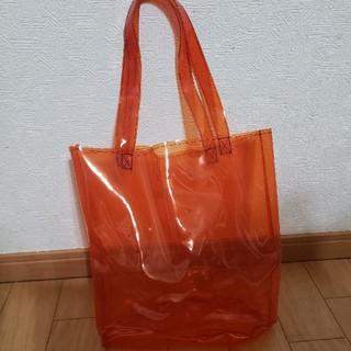 シー(SEA)のsea rie クリア バック オレンジ シー(トートバッグ)