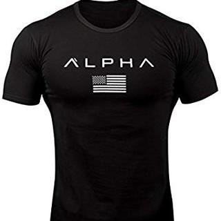 アルファ(alpha)のALPHAのTシャツ! メンズ Mサイズ ジム 筋トレ(Tシャツ/カットソー(半袖/袖なし))
