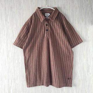 カルバンクライン(Calvin Klein)のused 古着 Calvin Klein チェック ポロシャツ USA製 M(ポロシャツ)