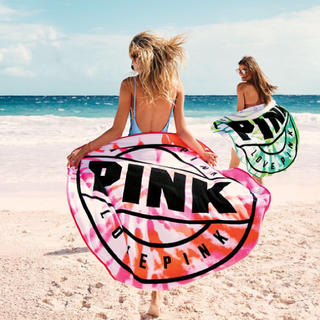 ヴィクトリアズシークレット(Victoria's Secret)の値下げ‼️早い者勝ち クーポンでお買い得‼️VS PINK ラウンド型タオル(その他)