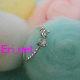 #j ♪キラキラジルコニアのリボンリング♪14号(リング(指輪))