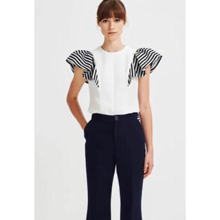バーニーズニューヨーク(BARNEYS NEW YORK)の完売品 ボーダーズアットバルコニー カットソー 36 ホワイト(Tシャツ(半袖/袖なし))