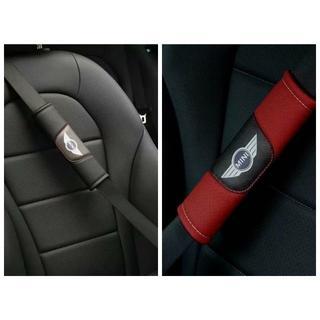 BMW - 新品 ミニクーパー ロゴ 本革 シートベルト 2枚セット 2色選択可