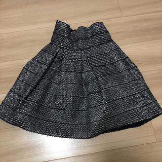 エイチアンドエム(H&M)のH&M シルバー グリッター スカート(ミニスカート)