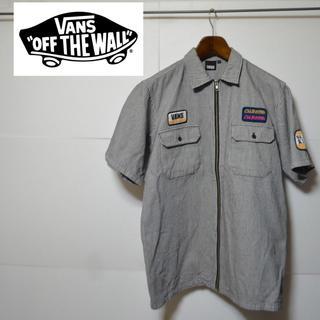 ヴァンズ(VANS)のVANS バンズ ストライプ ジップアップ ワッペン シャツ(シャツ)
