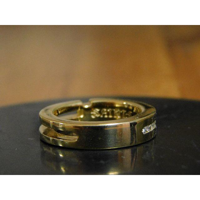 新品 SAINTS ジルコニア クロス リング ゴールド 11号 アクセサリー メンズのアクセサリー(リング(指輪))の商品写真