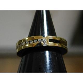 新品 SAINTS ジルコニア クロス リング ゴールド 11号 アクセサリー(リング(指輪))
