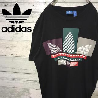 アディダス(adidas)の【レア】アディダスオリジナルス☆トレフォイルビッグロゴ マルチカラー Tシャツ(Tシャツ/カットソー(半袖/袖なし))