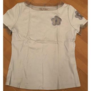 エムズグレイシー(M'S GRACY)のベイビーブルーのトップス(Tシャツ(半袖/袖なし))