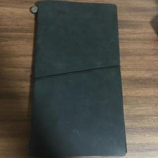 ムジルシリョウヒン(MUJI (無印良品))のトラベラーズノート ブラック 本革 手帳(手帳)