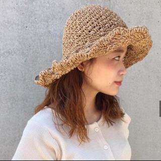 カスタネ(Kastane)のkastane ペーパーハット 本日限定(麦わら帽子/ストローハット)