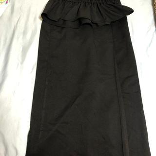 アメリヴィンテージ(Ameri VINTAGE)の超美品!バックゴム!コルセットベルト付き着痩せ!黒スカート(ひざ丈スカート)