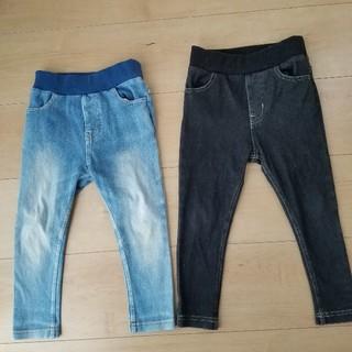プティマイン(petit main)のプティマイン デニム パンツ 90サイズ 2枚セット(パンツ/スパッツ)