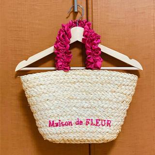 メゾンドフルール(Maison de FLEUR)のMaison de FLEUR * ロゴフリルかごバッグ(かごバッグ/ストローバッグ)
