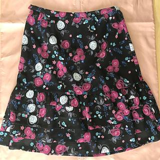 ハナエモリ(HANAE MORI)のモリハナエ Alma en Rose バラのスカート(ひざ丈スカート)