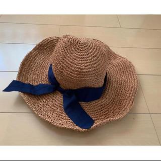 ルージュヴィフ(Rouge vif)のCHOCO様専用  新品 ルージュビフ 折りたたみ帽子  (麦わら帽子/ストローハット)