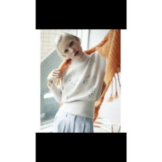 アメリヴィンテージ(Ameri VINTAGE)のAmeri VINTAGE アメリ ジャスミンビジューニット ホワイト 新品(ニット/セーター)