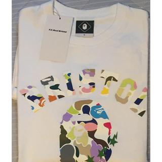 エフシーアールビー(F.C.R.B.)の美品F.C.R.BAPE★MULTI CAMO COLLEGE TEE 定価以下(Tシャツ/カットソー(半袖/袖なし))