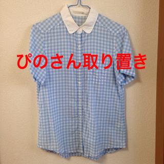ジーユー(GU)のgu  ギンガムシャツ(シャツ/ブラウス(半袖/袖なし))