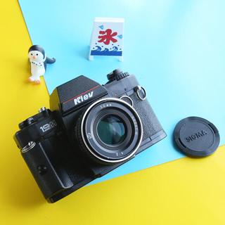 ニコン(Nikon)の完動品‼️実写済み‼️激レア kiev 19m Nikonマウント ぐるぐるボケ(フィルムカメラ)