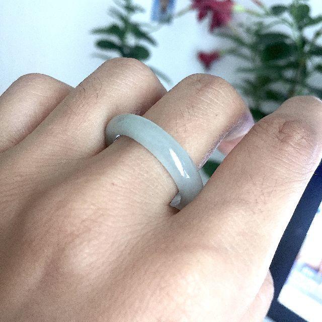 8020 在庫処分 24.5号 天然翡翠リング メンズリング 硬玉ジェダイト メンズのアクセサリー(リング(指輪))の商品写真