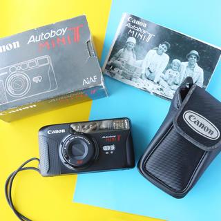 キヤノン(Canon)の完動品‼️フルセット‼️Canon autoboy mini T フィルムカメラ(フィルムカメラ)
