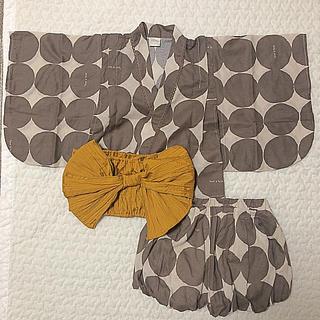 フタフタ(futafuta)の完売  水玉  浴衣ドレス  95(甚平/浴衣)