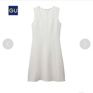 ジーユー(GU)のGU ノースリーブ ワンピース ホワイト(ひざ丈ワンピース)