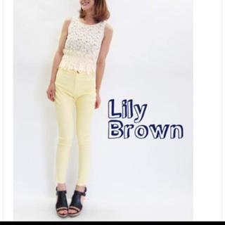 リリーブラウン(Lily Brown)のリリーブラウン♡ハイウエストパンツ(スキニーパンツ)